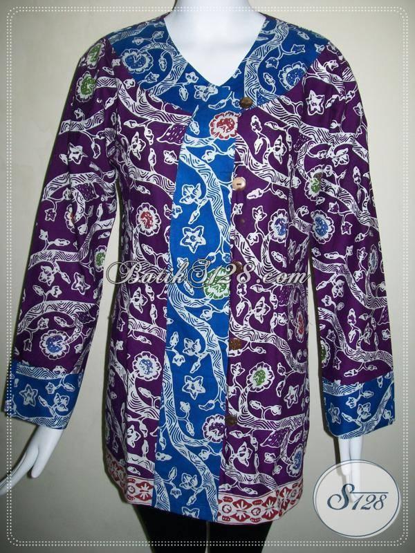 Baju Batik Wanita Big Size Blus Batik Murah Aneka Model