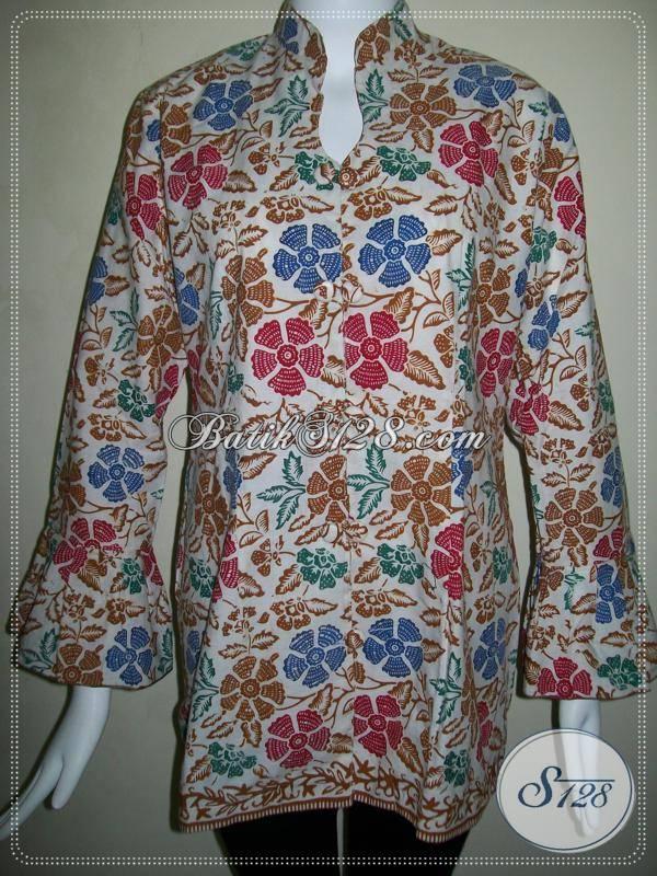 Baju BAtik Trendy Untuk Wanita Modern,Batik Asli Solo,Harga Baju Batik Murah [BLS495C-L]