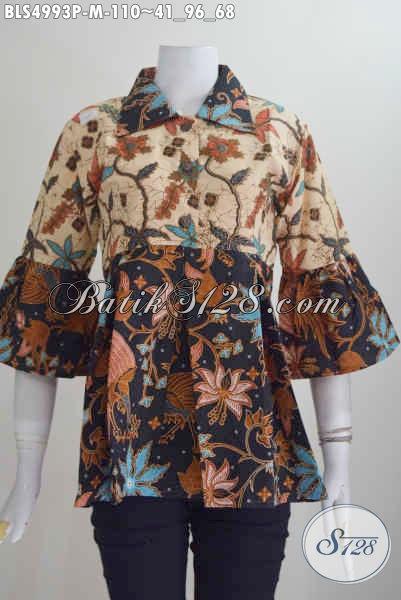 Pakaian Batik Cewek Terkini, Hadir Dengan Model Berkelas Warna Elegan Bahan Halus Proses Printing Untuk Penampilan Lebih Gaya Dan Keren [BLS4993P-M]