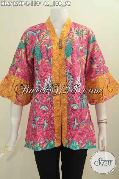 Jual Pakaian Batik Wanita Terkini Hadir Dengan Model Blus Lengan