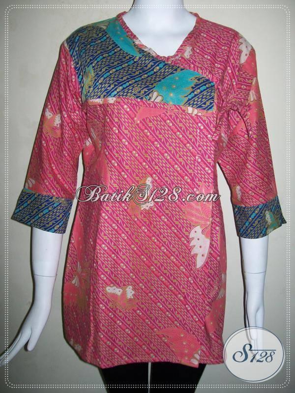 Baju BAtik Wanita Motif Kupu,Batik Motif Kupu Cantik [BLS505P]