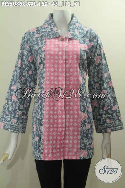Agen Baju Batik Online Sedia Blus Batik Jumbo Halus Dual