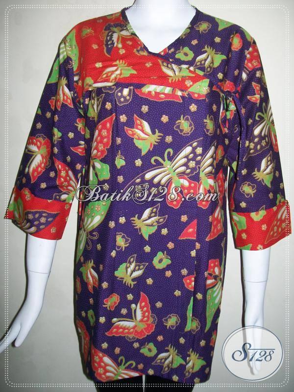 Baju Batik Untuk Wanita Masa Kini Blus Batik Trendy Dan