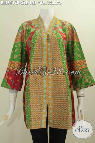 Baju Blus Batik Perempuan Gemuk Busana Batik Elegan Mewah