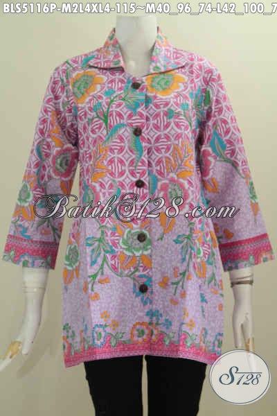 Jual Online Baju Batik Keren Trend 2016, Baju Batik Wanita Muda Dan Dewasa Dengan Desain Kerah Kotak Motif Unik Warna Menarik, Cocok Untuk Santai Dan Formal, Size M – L – XL