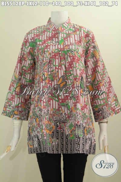 Produk Busana Batik Istimewa Buatan Solo Model Kerah Shanghai Untuk Tampil Gaya Dengan Harga 100 Ribuan, Size L – XL