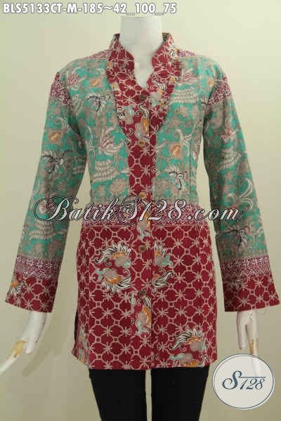 Jual Baju Kerja Batik Solo Proses Cap Tulis Kwalitas Premium, Pakaian Batik Elegan Kerah Shanghai Kancing Depan Bahan Halus Motif Mewah Harga 180 Ribuan, Size M