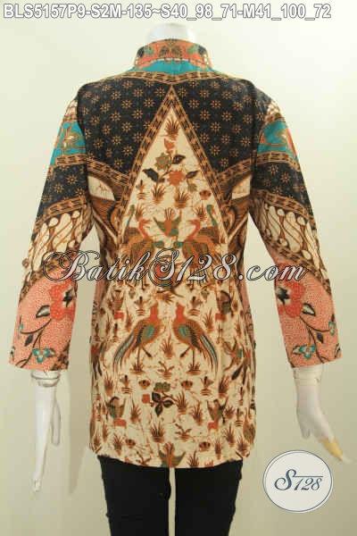 Sedia Blus Batik Kerah Kemeja Trend Model Terkini, Baju Batik Elegan Kerah Kemeja Motif Klasik Printing Halus Harga 135K, Size S – M
