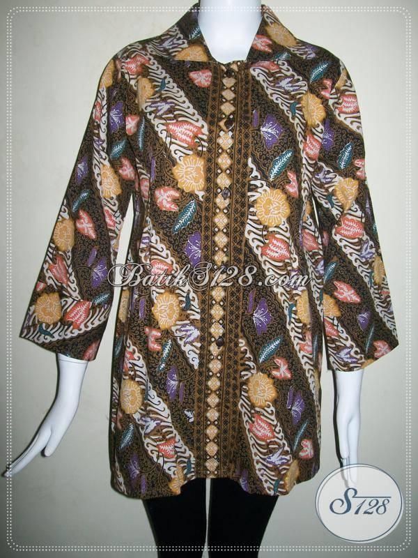 Butik BAtik Wanita Kelas Menengah Ke Atas,Blus BAtik Trendy Untuk Pekerja Kantor [BLS515CT]