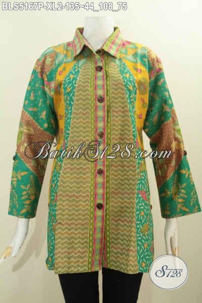 Baju Blus Batik Ukuran Xl Busana Batik Elegan Model Kerah