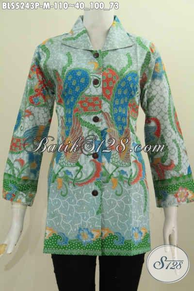 Pakaian Batik Solo Buat Wanita Yang Ingin Tampil Gaya Dan Berkelas, Hadir Dengan Model Kerah Kotak Motif Bagus Warna Mewah Proses Printing Hanya 110K [BLS5243P-M]