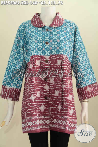 Jual Produk Baju Batik Atasan Buat Wanita Gemuk Blus