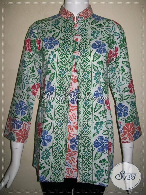 Model Baju Kerja Batik Untuk Wanita Masa Kini Baju Batik Lengan