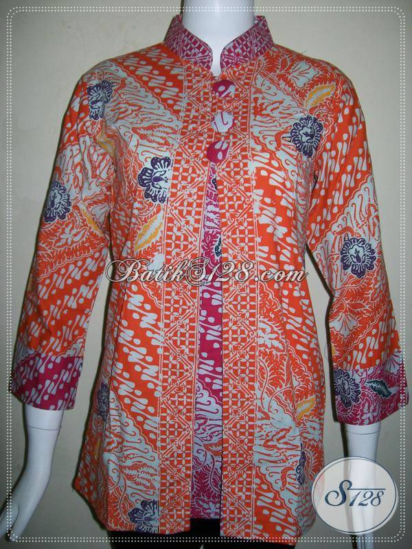 ... Batik Solo Model Kancing Depan, Tampil Cantik Dan Trendy - Baju Batik