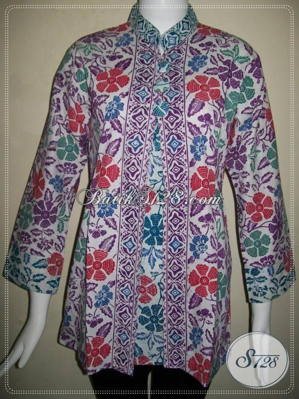 Baju BAtik Seragam Wanita Krah Shanghai [BLS535CD-L]