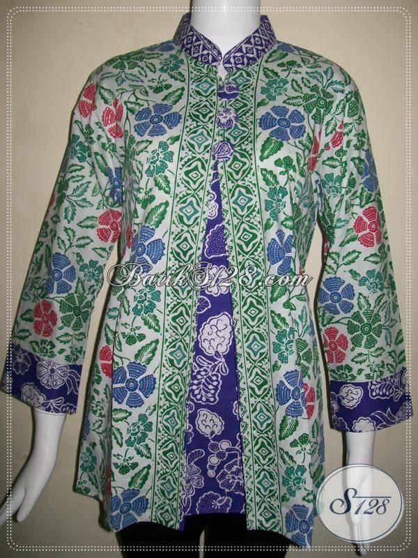 Koleksi Lengkap Aneka Busana Batik karyawan Kantor Blus Batik