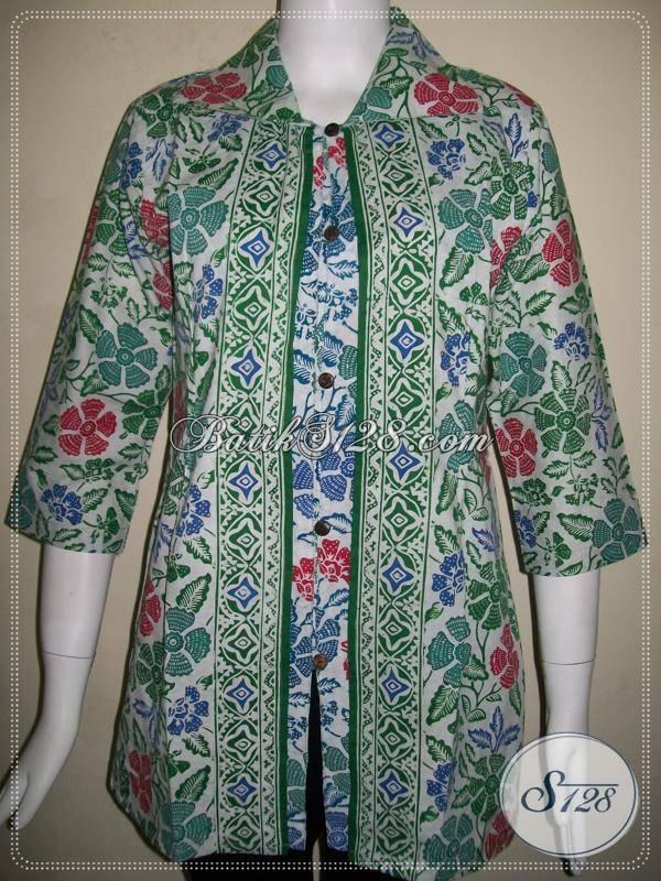 Blus Batik Wanita Karir Cocok Digunakan Untuk Pergi Ke Kantor