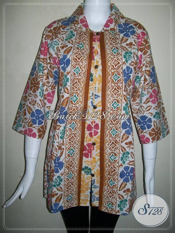 Toko Baju Batik Online Jual Blus Batik Wanita Modern Berbahan