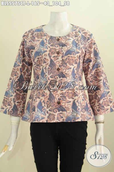 Jual Online Blus Batik Nan Modis Baju Batik Halus Motif Berkelas