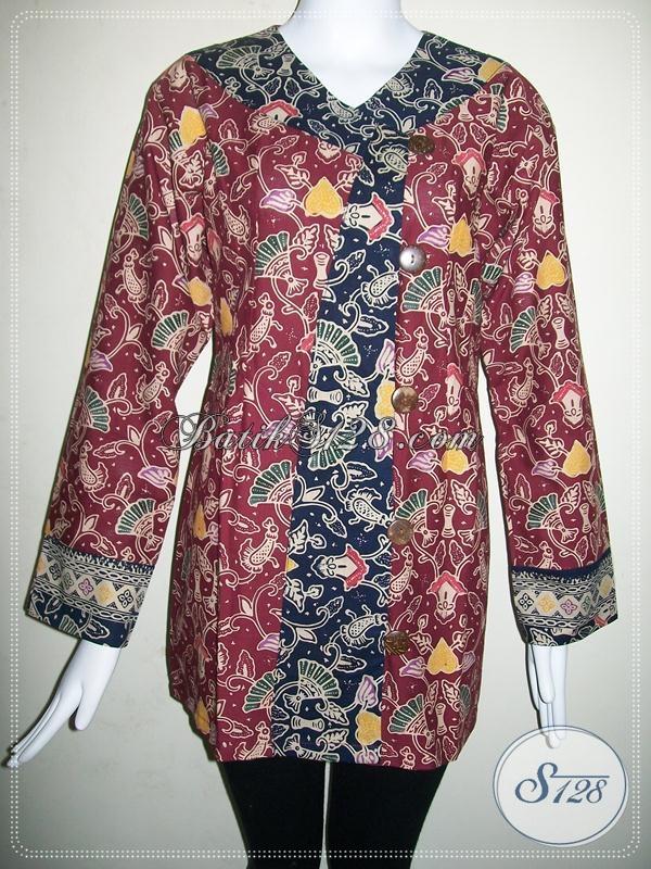 Model Baju Batik Kantor Modern Untuk Cewek Model Blazer Batik | Black