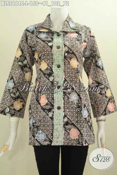 Sedia Baju Batik Elegan Motif Mewah Proses Cap Buatan Solo, Produk Baju Batik Istimewa Tampil Gaya Dan Mempesona [BLS5664C-L]