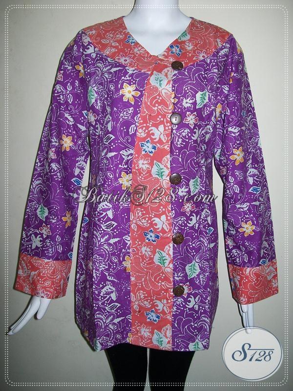 Baru Masuk Baju Batik Trendy Kombinasi Warna Ungu Dan Pink