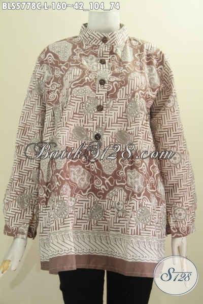 Busana Batik Elegan Baju Batik Wanita Lengan Panjang Dua