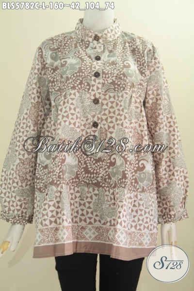Jual Pakaian Batik Solo Nan Istimewa Spesial Untuk Wanita Karir, Berbahan Adem Proses Cap Harga 160K, Size L