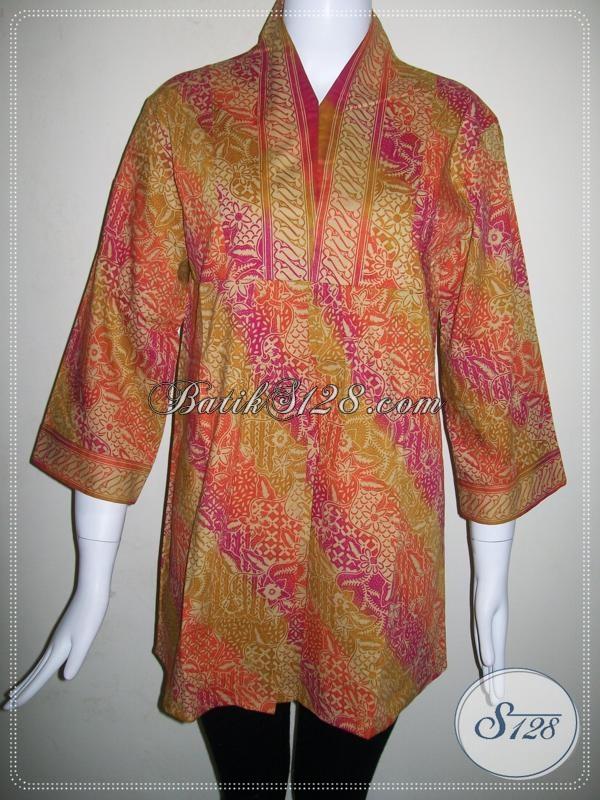 Baju Batik Terkini Untuk Wanita Aktif Bls579cg M Toko