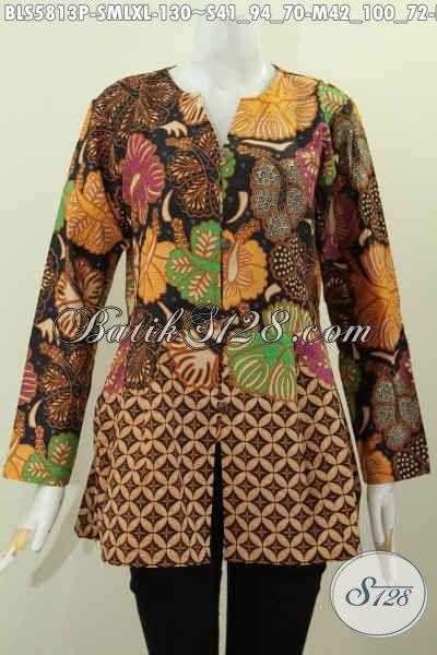 Baju Blus Batik Modis Baju Batik Santai Untuk Wanita Muda