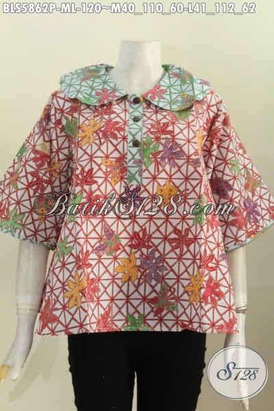 Jual Produk Pakaian Batik Wanita Muda Masa Kini, Hadir Dengan Desain Trendy Motif Keren Proses Printing Hanya 120K [BLS5862P-L]