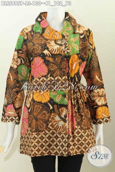 Baju Batik Modern Pakaian Batik Halus Buatan Solo Model Lengan