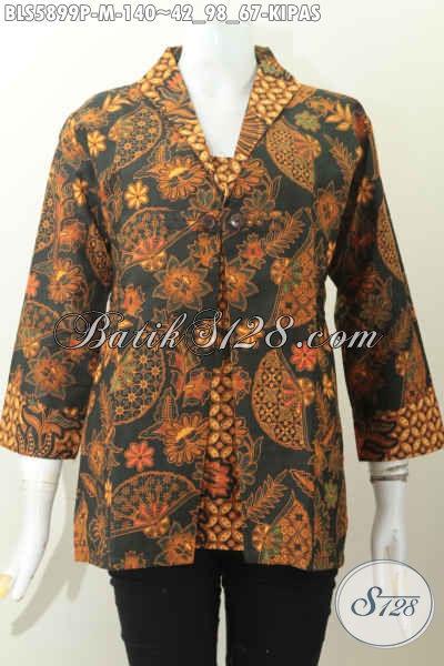 Baju Batik Elegan, Pakaian Batik Istimewa Harga Biasa Model Jas Dengan 2 Warna Cocok Untuk Acara Formal [BLS5899P-M]