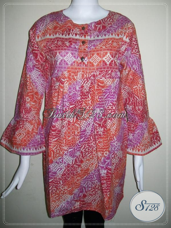 Baju Batik Wanita Exclusive Asli Batik Solo,Baju Batik Wanita Modern [BLS589C-L]