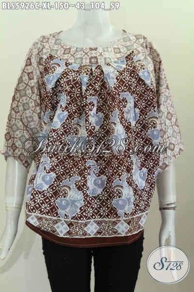 Produk Busana Batik Nan Istimewa, Pakaian Batik Masa Kini Buatan Solo Motif Keren Proses Cap Bisa Buat Ke Kantor Dan Hngout [BLS5926C-XL]