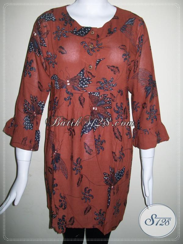 Baju BAtik Wanita Aktif Model Trendy Dan Modern [BLS595BTPR-M]