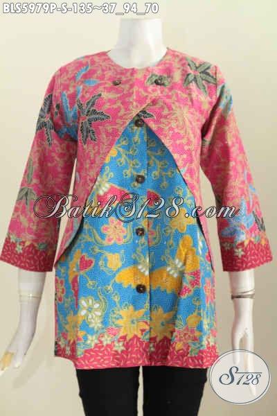 Jual Baju Blus Lengan Panjang Kombinasi Rompi Trend Mode ...