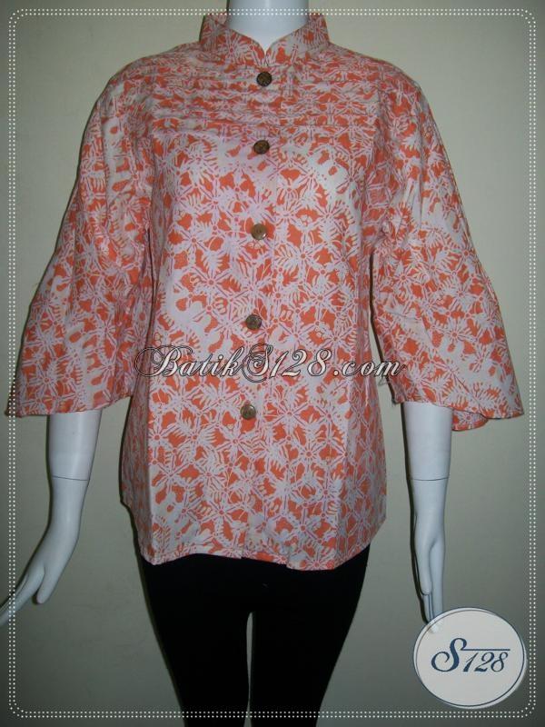 Baju BAtik Kerja Model Terkini,Batik Cantik Untuk Wanita Karir [BLS599P-M]