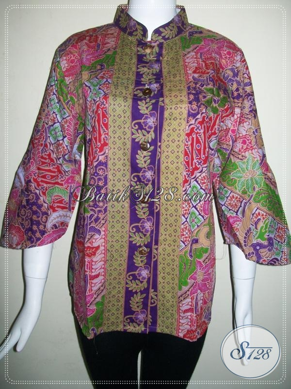 Baju Batik Wanita Model Terbaru 2014,Motif Batik Wanita Terkini [BLS603P-L]