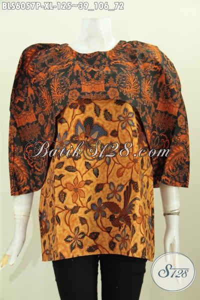 Batik Blus Halus Motif Klasik Proses Printing Harga 125K, Pakaian Batik Masa Kini Untuk Penampilan Lebih Istimewa, Size XL