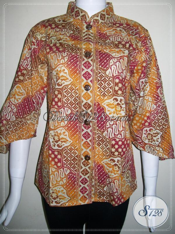 Baju BAtik Wanita Model Masa Kini Dan Motif Modern [BLS608CG-M]