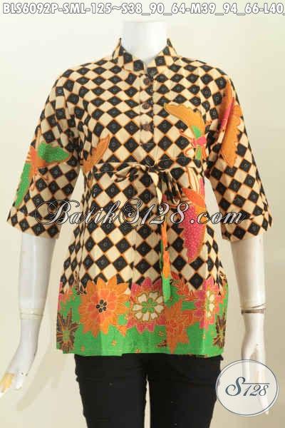 Sedia Busana Batik Modern Buatan Solo Spesial Untuk Wanita Karir Masa Kini Yang Ingin Tampil Lebih Bergaya [BLS6092P-S]