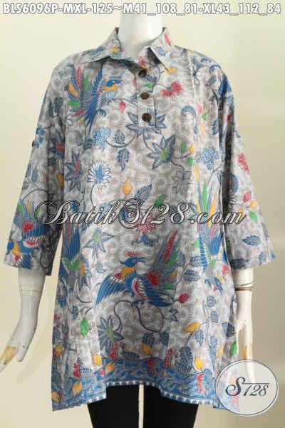 Baju Batik Wanita Model A Kerah Kemeja Blus Batik Masa Kini Untuk