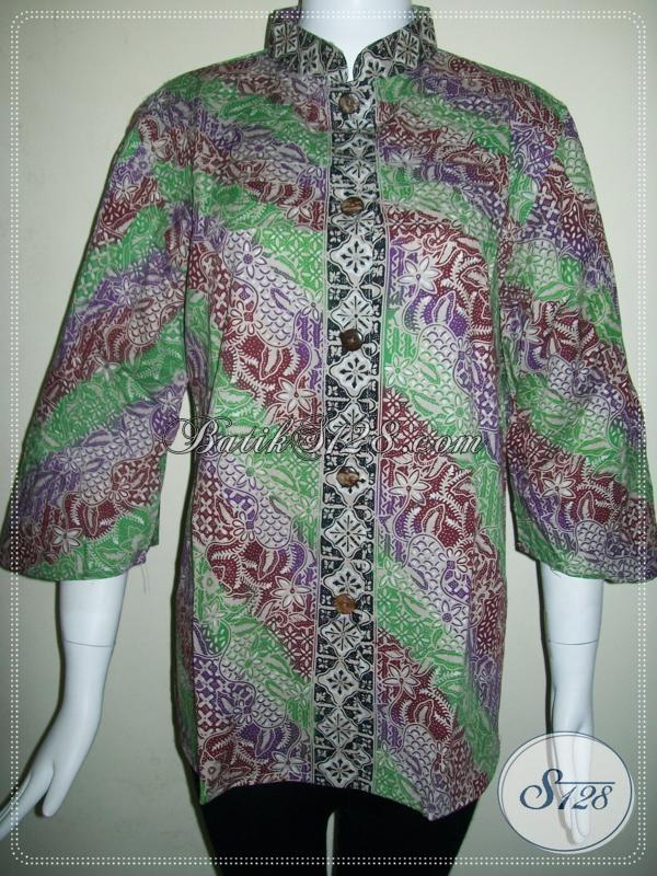 Batik Wanita Atasan Mewah Kelas Atas, Cocok Untuk Karyawati Dan Pegawai