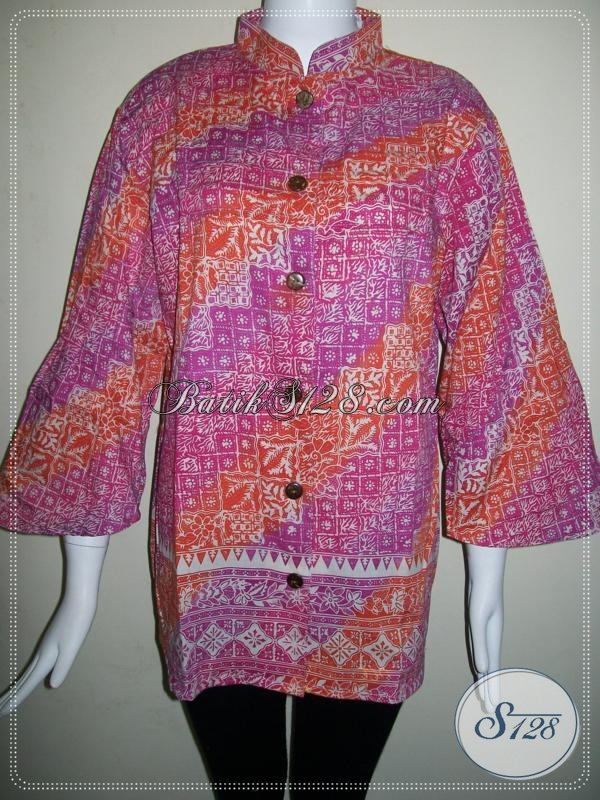 Blus BAtik Wanita Cantik Dan Model Batik Lucu [BLS616CG-XXL]