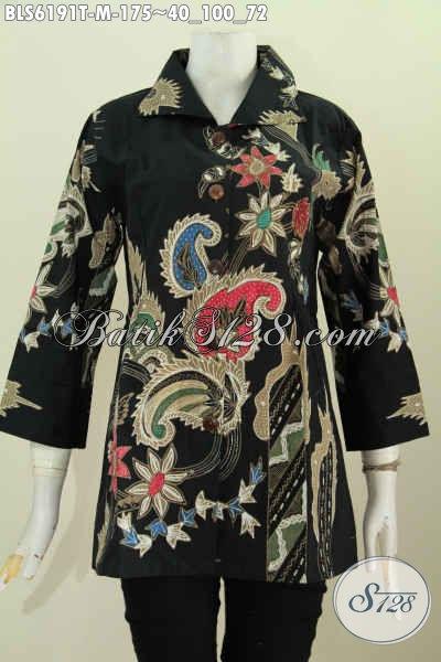 Blus Batik Elegan Kwalitas Bagus Bahan Halus Motif Mewah Proses Tulis Hanya 175K [BLS6191T-M]
