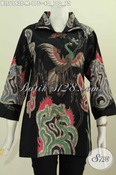 Sedia Baju Blus Batik Tulis Istimewa, Produk Busana Batik Berkelas Untuk Wanita Tampil Istimewa [BLS6192T-M]