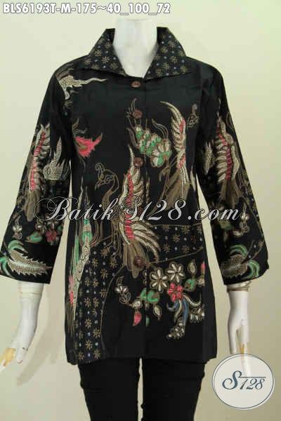 Pakaian Blus Batik Kwalitas Istimewa, Busana Batik Elegan Mewah Harga Murah Proses Tulis [BLS6193T-M]