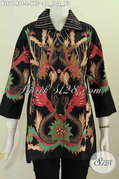 Produk Baju Blus Batik Istimewa Bahan Adem Motif Trendy Prpses Tulis Harga Terjangkau [BLS6197T-L]