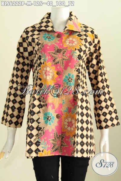 Jual Online Baju Batik Mewah, Produk Pakaian Batik Solo Trend Motif Masa Kini Untuk Penampilan Lebih Gaya Dan Trendy [BLS6222P-M]